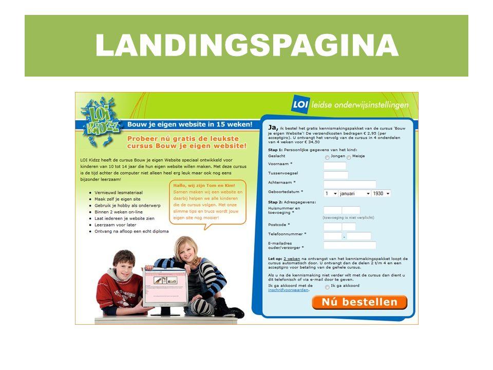 LANDINGSPAGINA Gezocht op cursus voor kinderen, website bouwen kinderen, website maken kinderen ed.