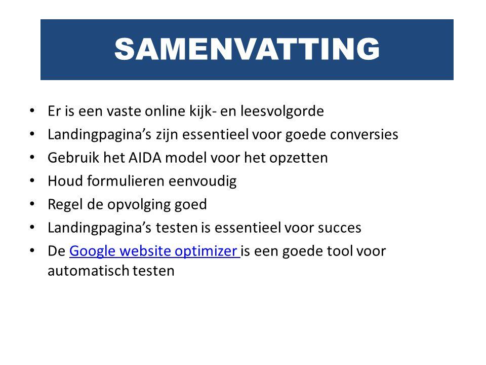 SAMENVATTING Er is een vaste online kijk- en leesvolgorde