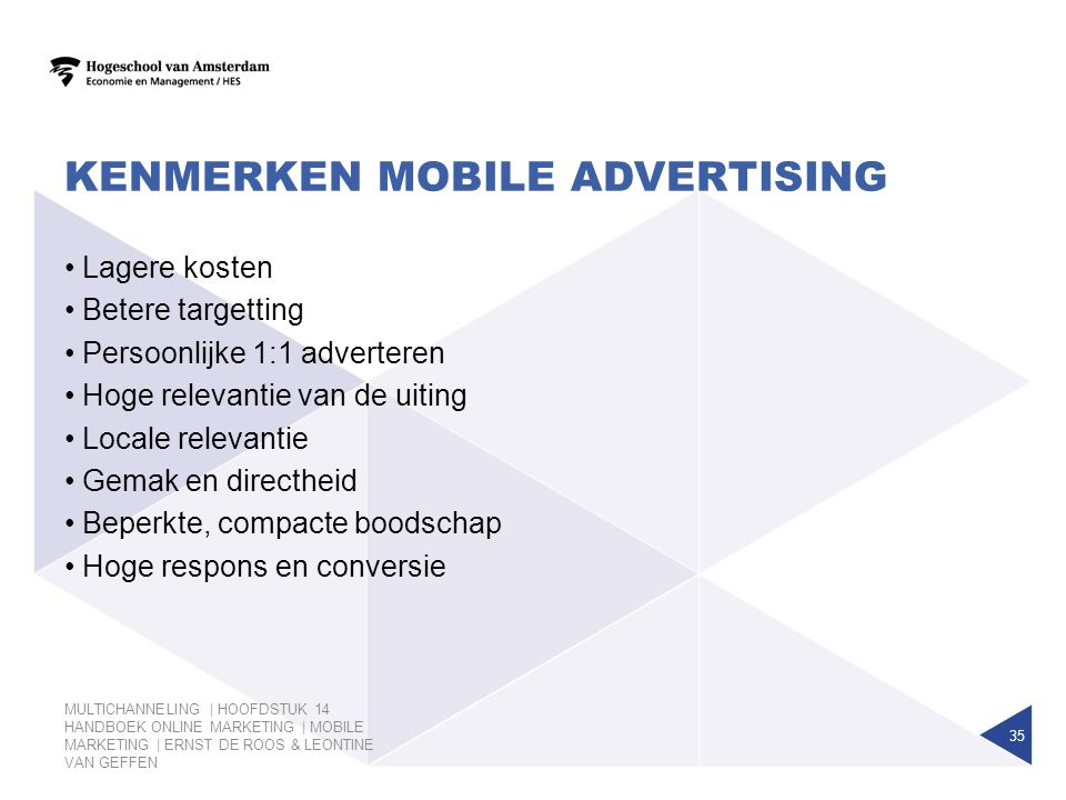 Kenmerken Mobile advertising