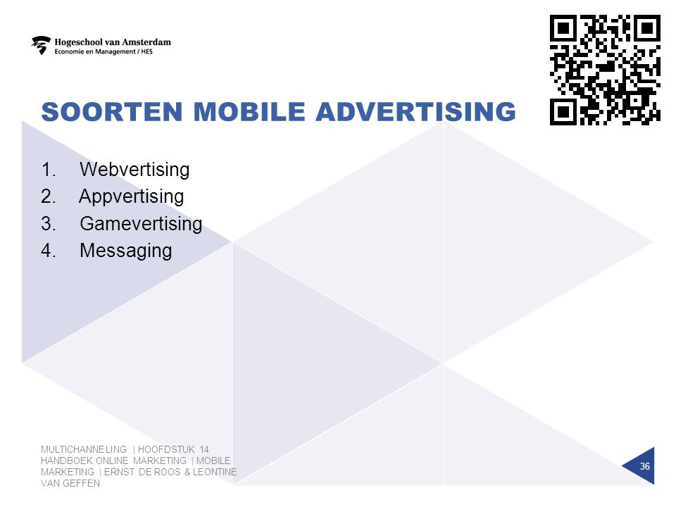 Soorten Mobile advertising