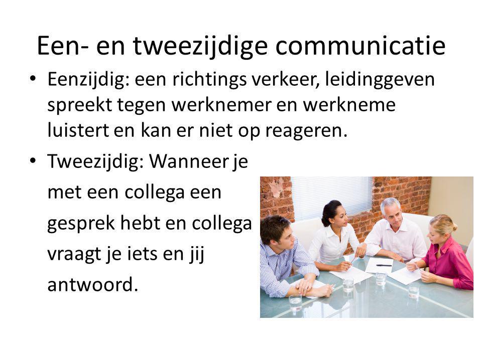 Een- en tweezijdige communicatie