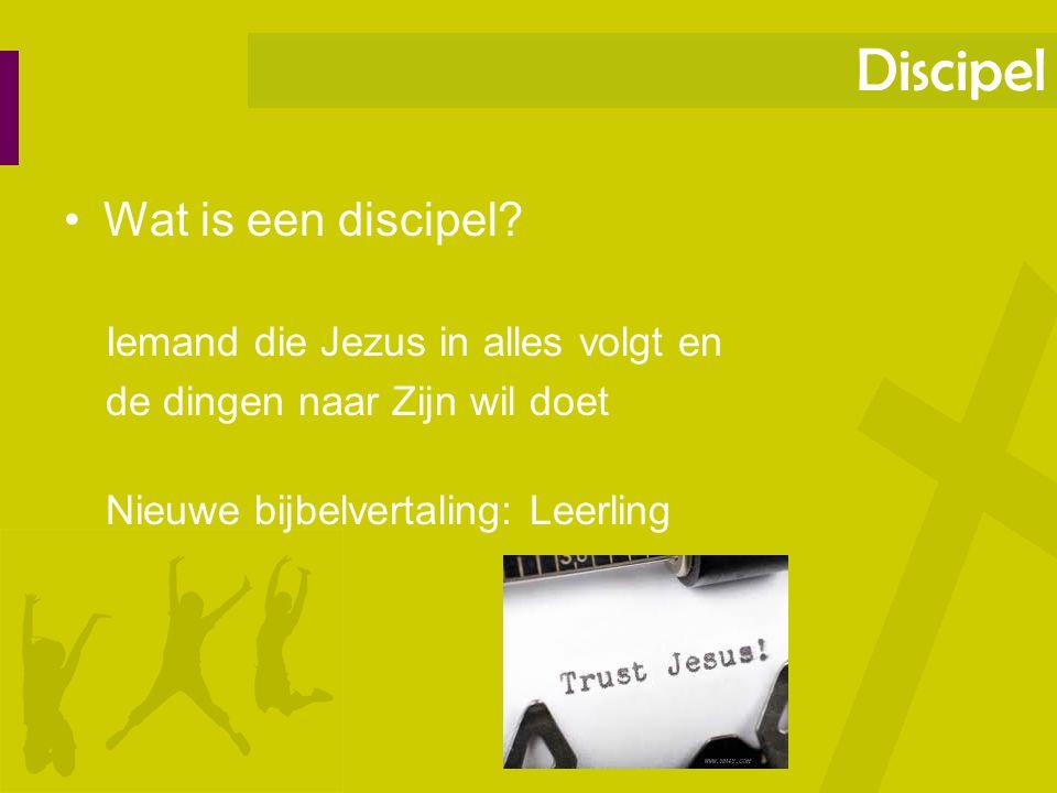 Discipel Wat is een discipel Iemand die Jezus in alles volgt en