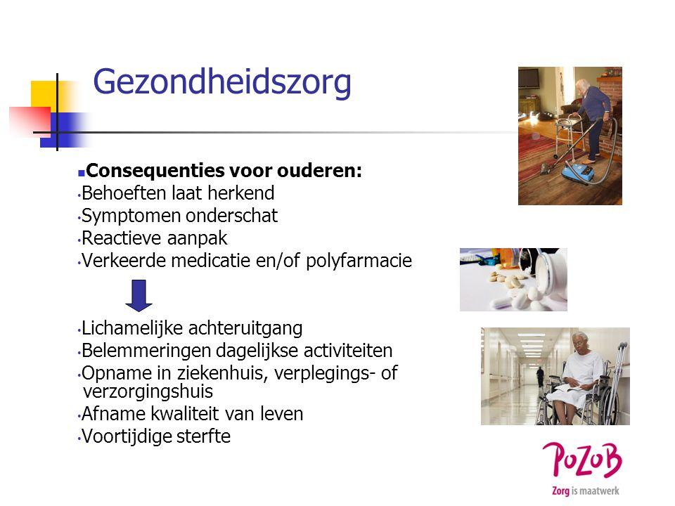 Gezondheidszorg Consequenties voor ouderen: Behoeften laat herkend