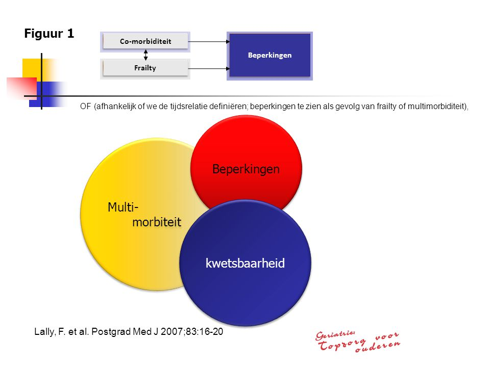 Figuur 1 Beperkingen Multi- morbiteit kwetsbaarheid