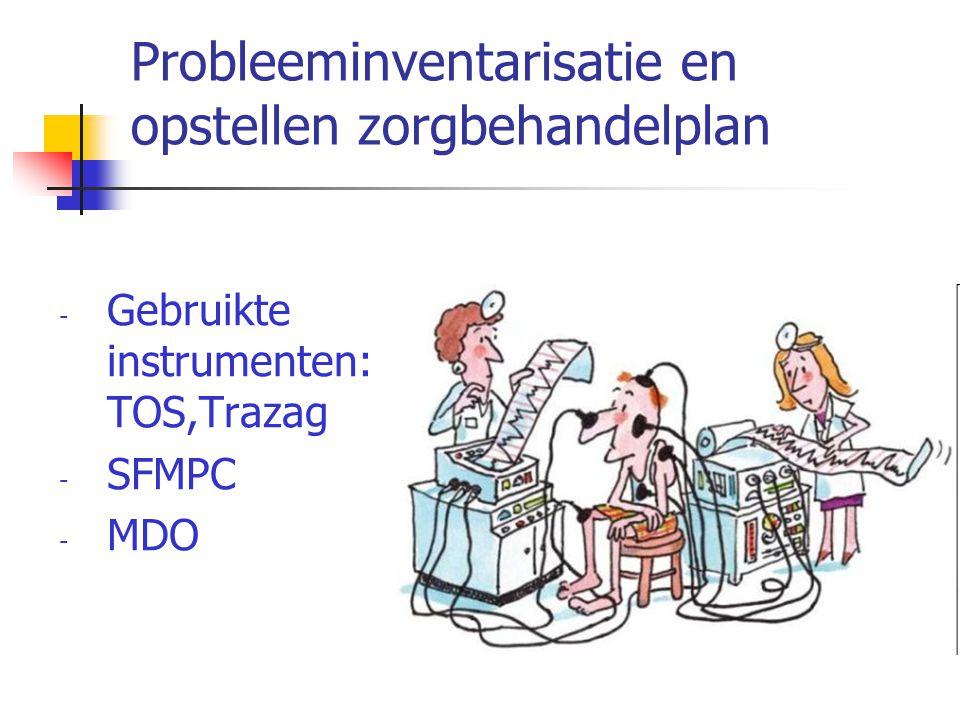 Probleeminventarisatie en opstellen zorgbehandelplan