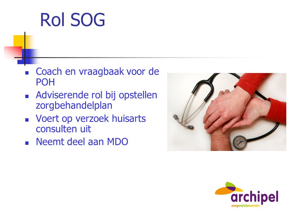 Rol SOG Coach en vraagbaak voor de POH