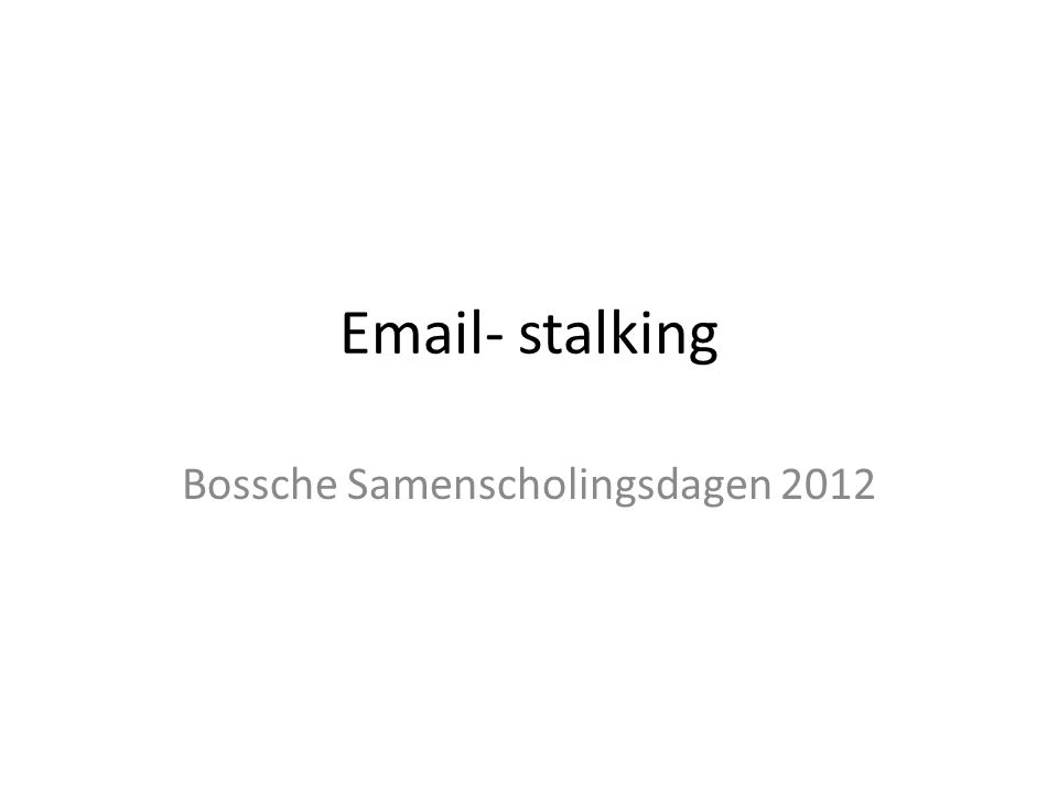 Bossche Samenscholingsdagen 2012