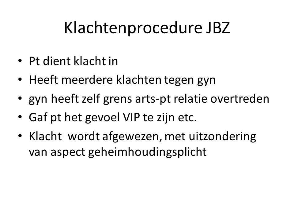 Klachtenprocedure JBZ