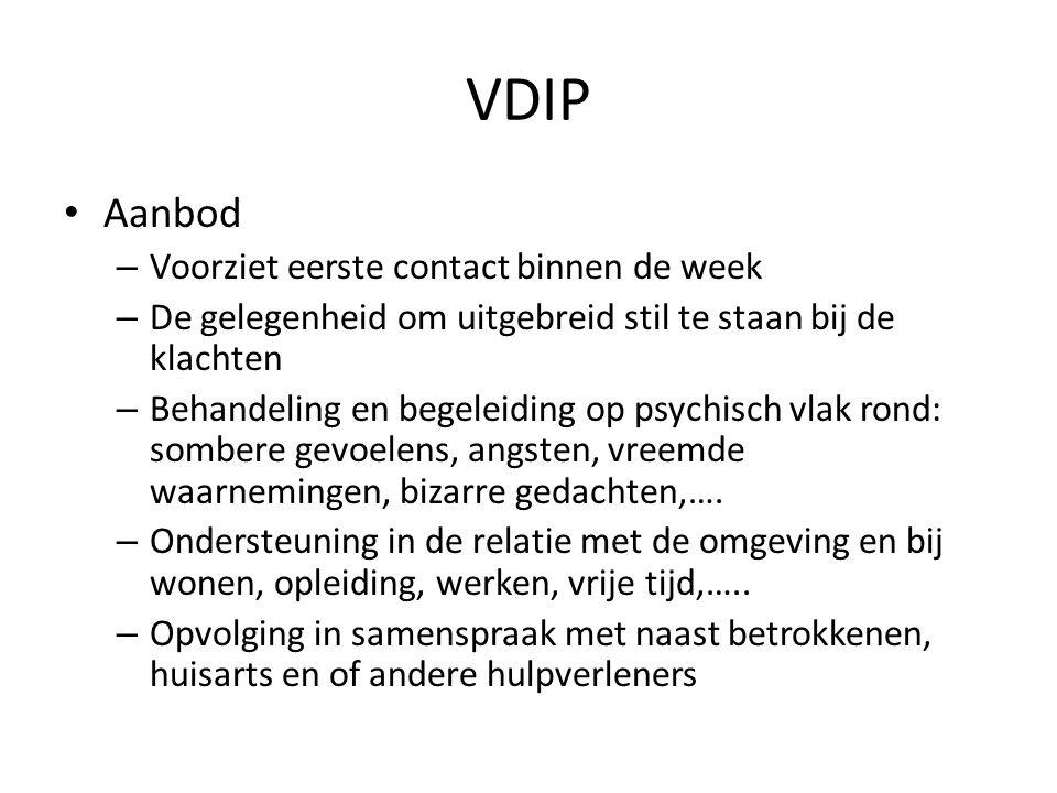 VDIP Aanbod Voorziet eerste contact binnen de week