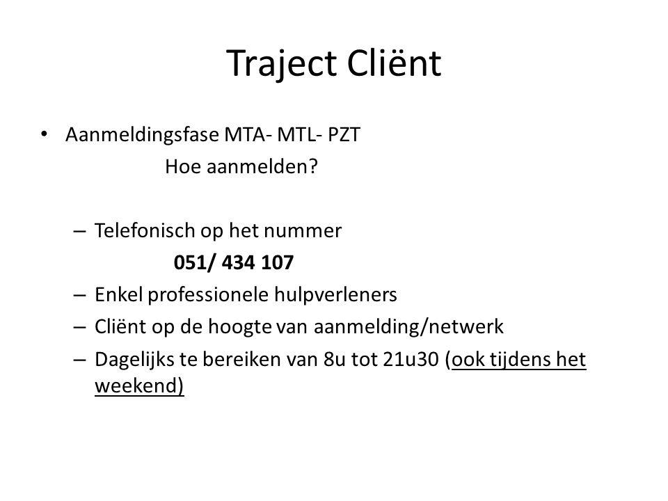 Traject Cliënt Aanmeldingsfase MTA- MTL- PZT Hoe aanmelden