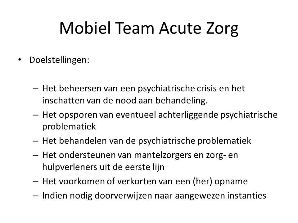 Mobiel Team Acute Zorg Doelstellingen: