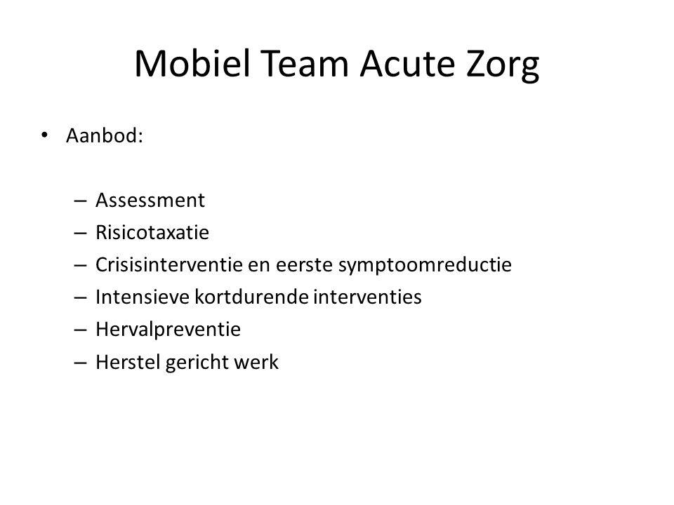 Mobiel Team Acute Zorg Aanbod: Assessment Risicotaxatie