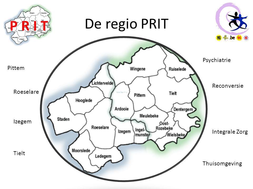 De regio PRIT Psychiatrie Pittem Reconversie Roeselare Izegem