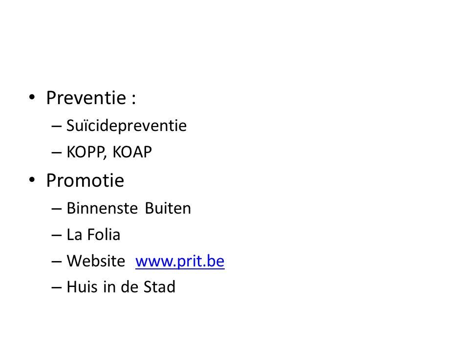 Preventie : Promotie Suïcidepreventie KOPP, KOAP Binnenste Buiten