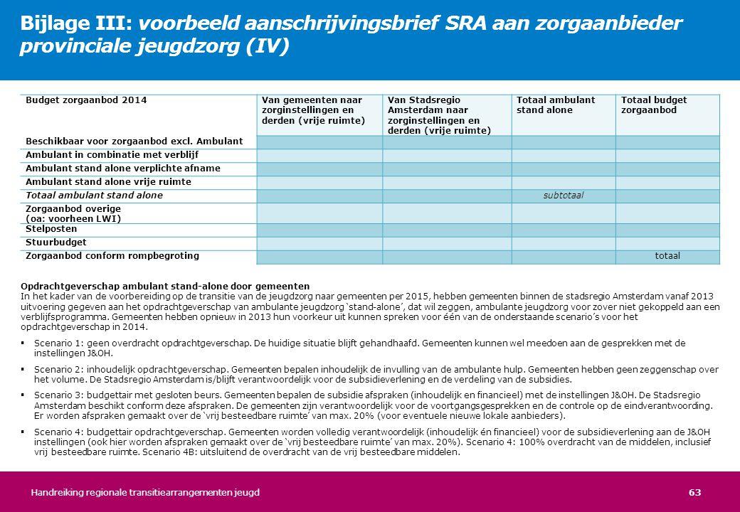 Bijlage III: voorbeeld aanschrijvingsbrief SRA aan zorgaanbieder provinciale jeugdzorg (IV)