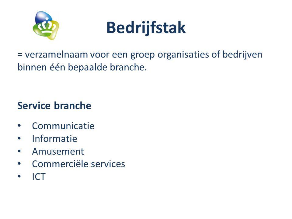 Bedrijfstak Service branche