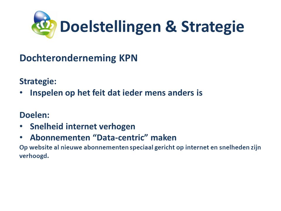 Doelstellingen & Strategie