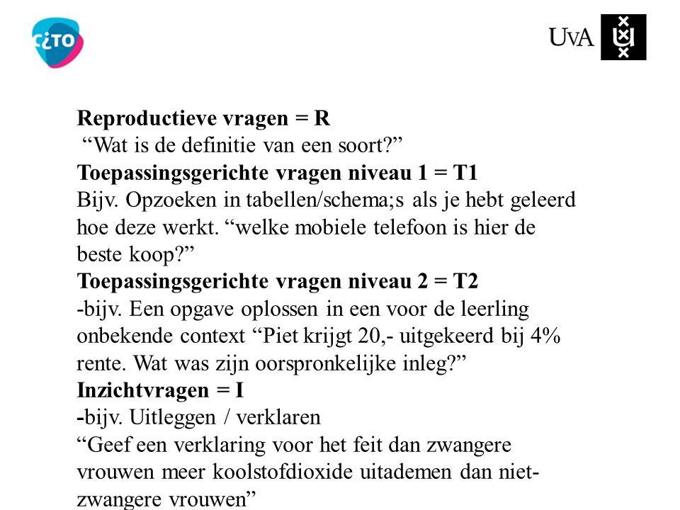 Reproductieve vragen = R
