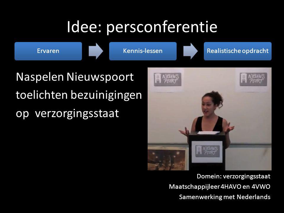 Idee: persconferentie