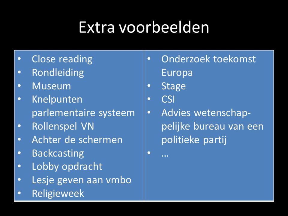 Extra voorbeelden Close reading Rondleiding Museum