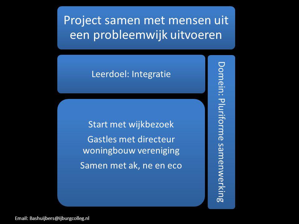 Project samen met mensen uit een probleemwijk uitvoeren