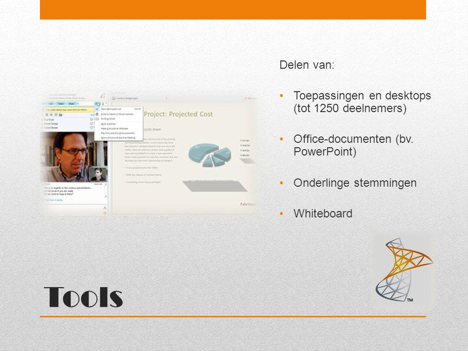 Tools Delen van: Toepassingen en desktops (tot 1250 deelnemers)
