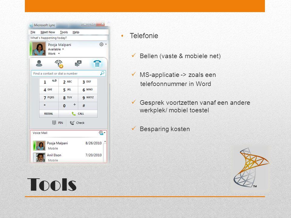 Tools Telefonie Bellen (vaste & mobiele net)