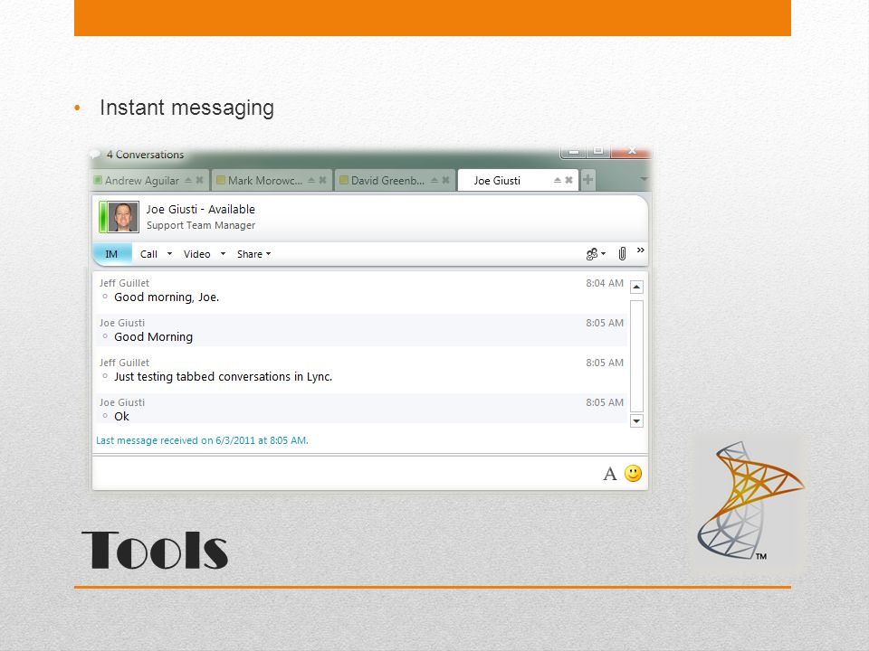 Tools Instant messaging