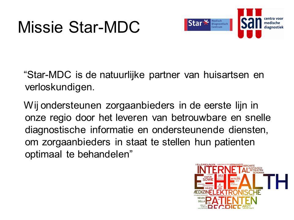 Missie Star-MDC Star-MDC is de natuurlijke partner van huisartsen en verloskundigen.
