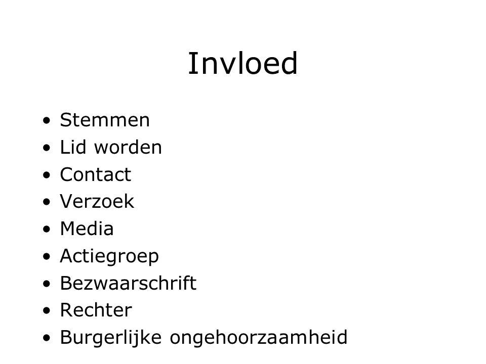 Invloed Stemmen Lid worden Contact Verzoek Media Actiegroep