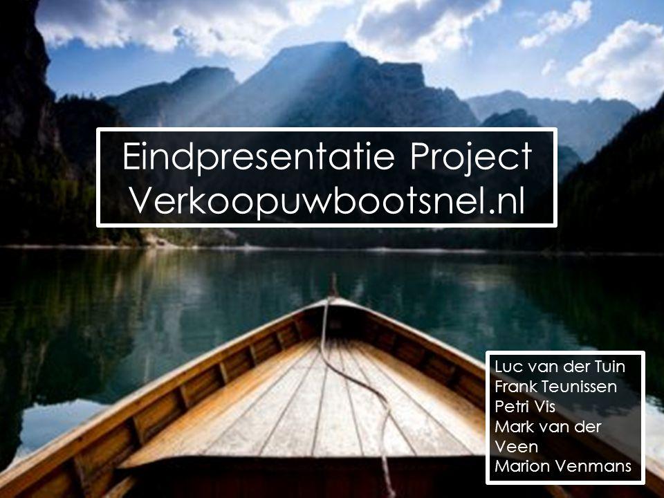 Eindpresentatie Project Verkoopuwbootsnel.nl