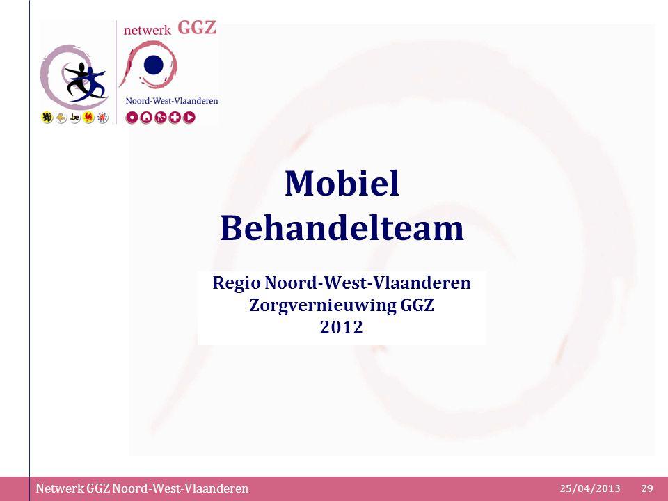 Regio Noord-West-Vlaanderen Zorgvernieuwing GGZ 2012