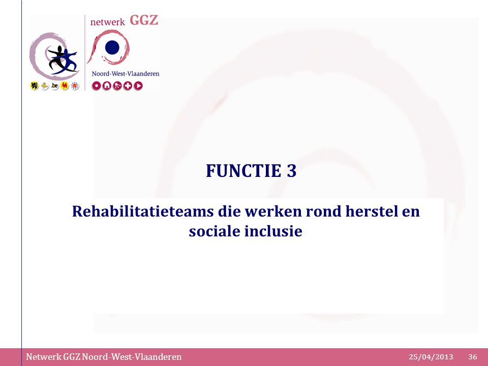 Rehabilitatieteams die werken rond herstel en sociale inclusie