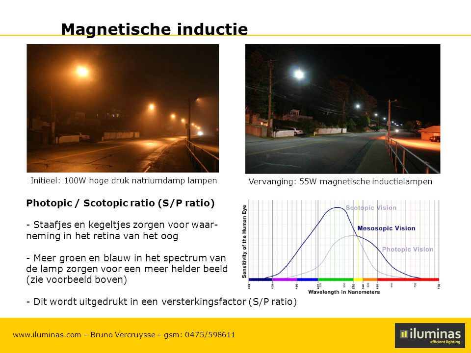 Magnetische inductie Photopic / Scotopic ratio (S/P ratio)
