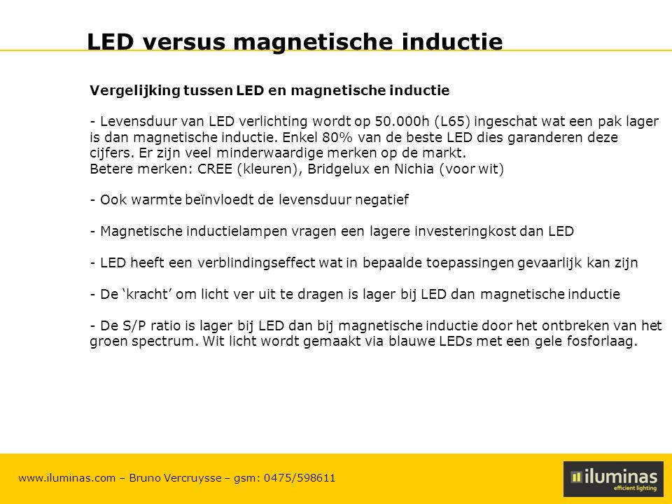 LED versus magnetische inductie