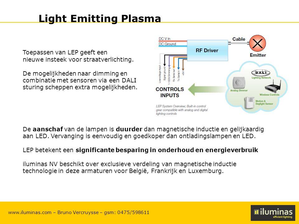 Light Emitting Plasma Toepassen van LEP geeft een