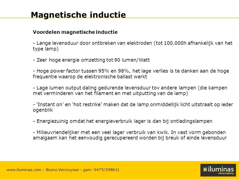 Magnetische inductie Voordelen magnetische inductie