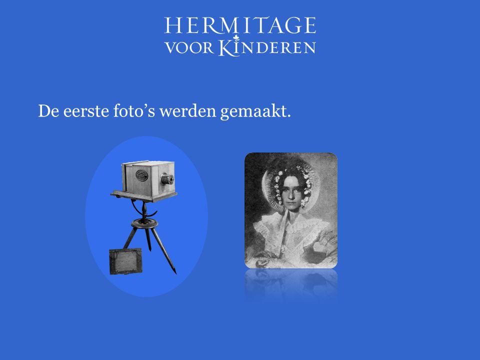 De eerste foto's werden gemaakt.
