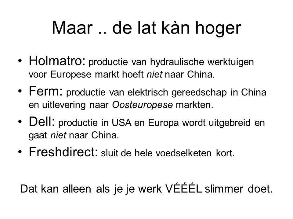 Maar .. de lat kàn hoger Holmatro: productie van hydraulische werktuigen voor Europese markt hoeft niet naar China.