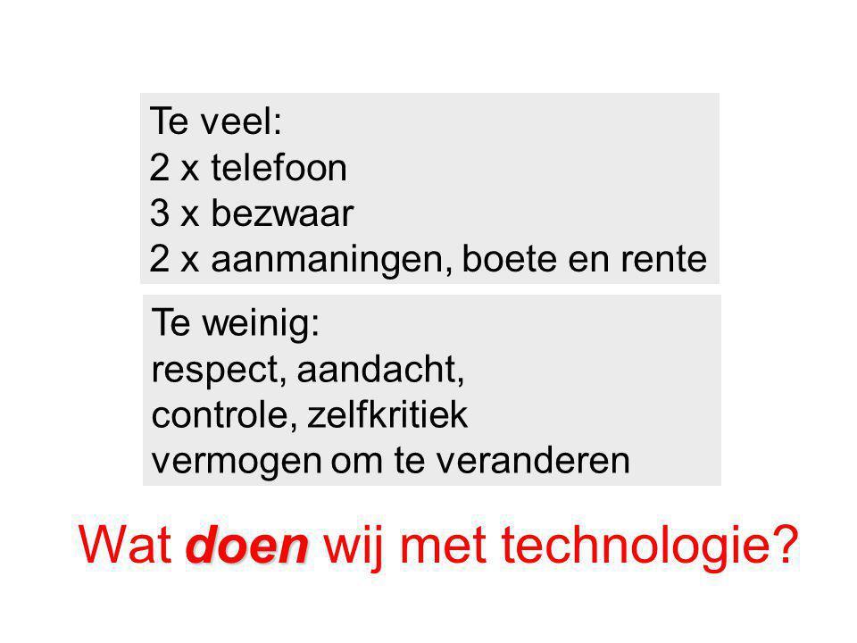 Wat doen wij met technologie