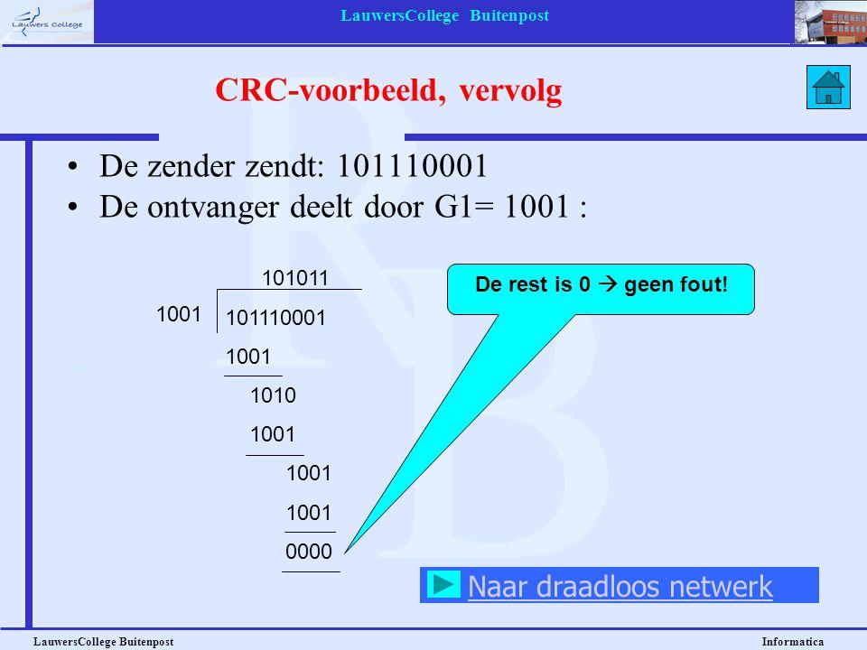CRC-voorbeeld, vervolg