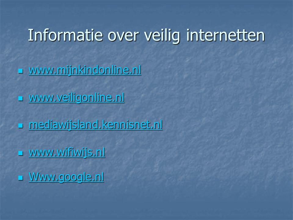 Informatie over veilig internetten