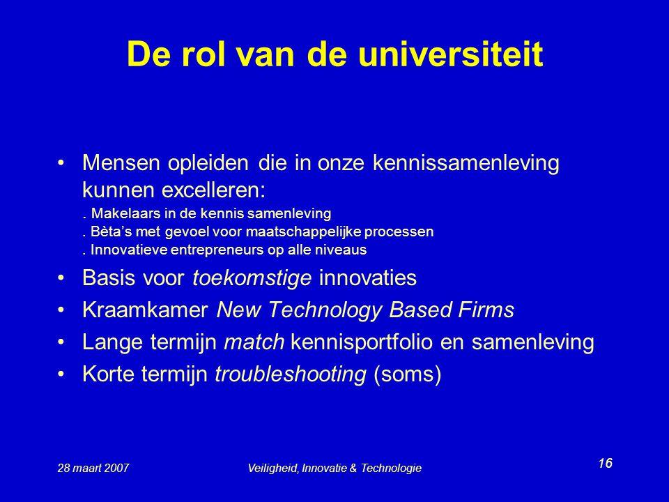 De rol van de universiteit