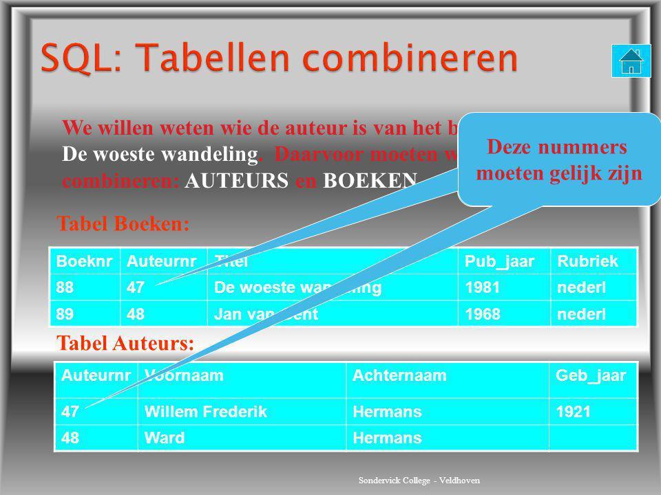 SQL: Tabellen combineren