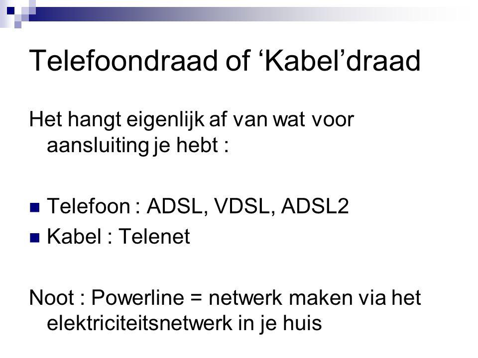 Telefoondraad of 'Kabel'draad
