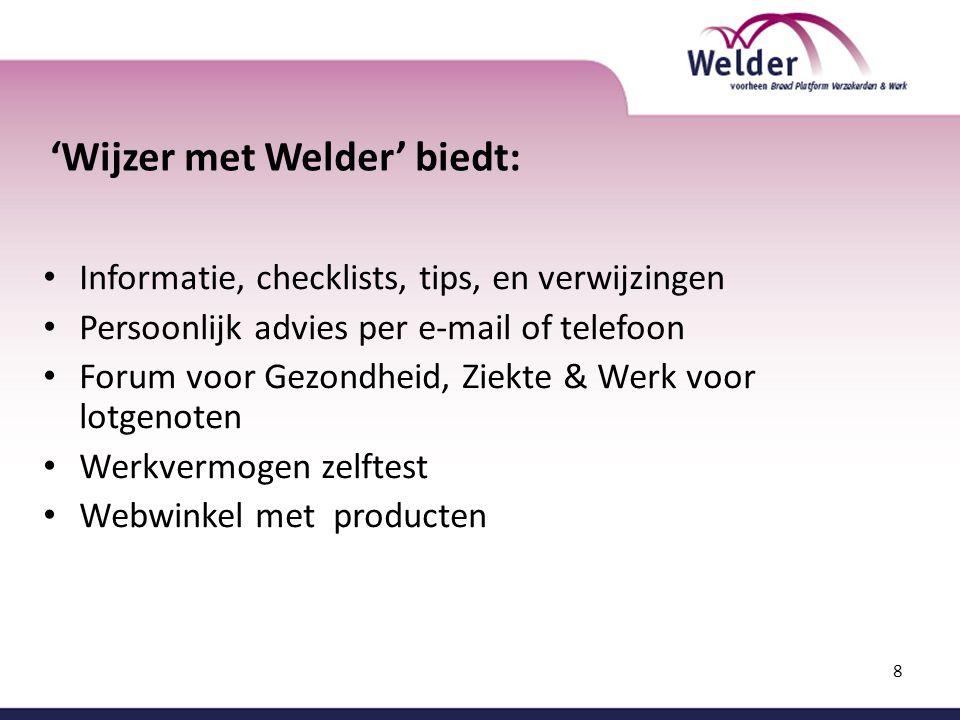 'Wijzer met Welder' biedt:
