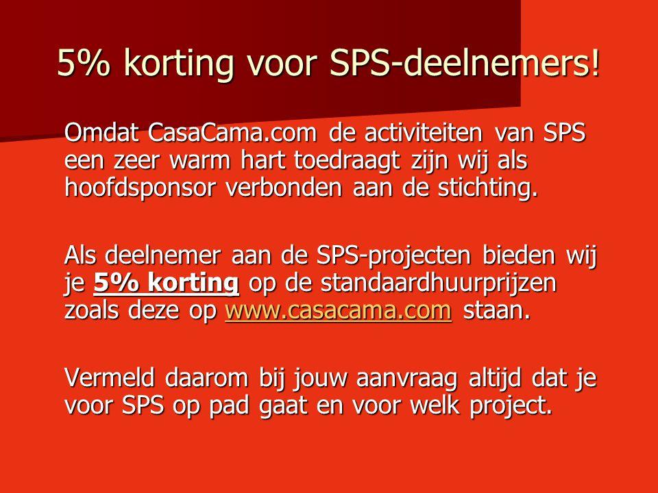 5% korting voor SPS-deelnemers!