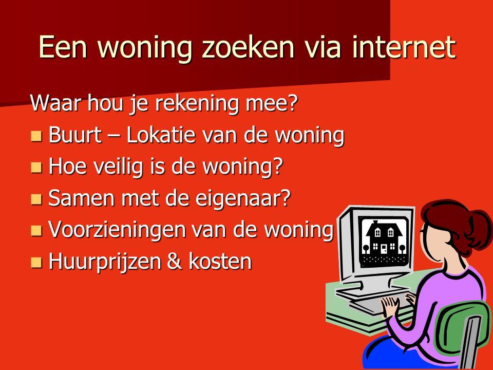 Een woning zoeken via internet
