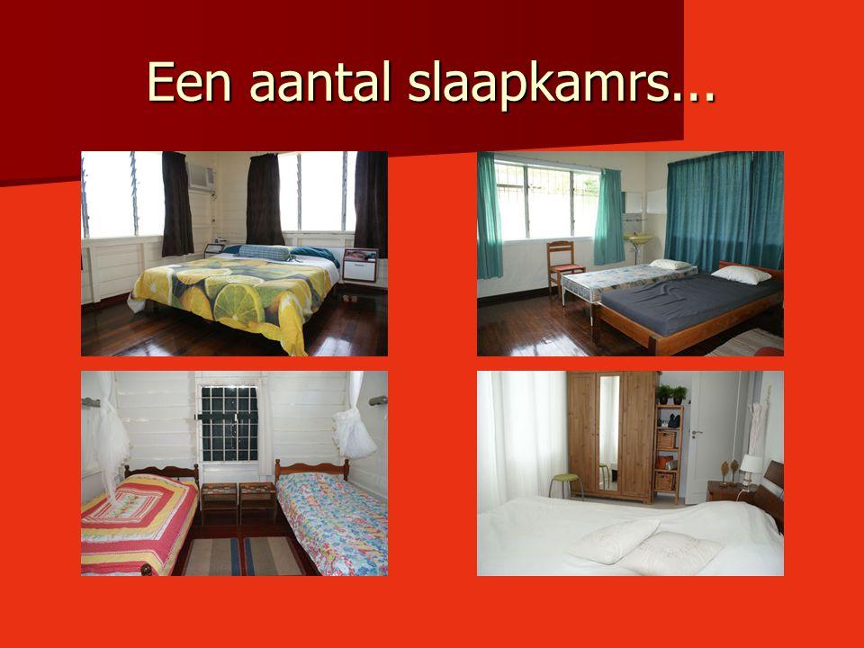 Een aantal slaapkamrs...