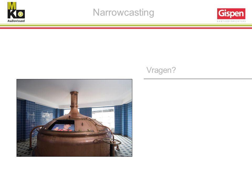 Narrowcasting Vragen